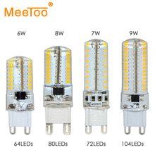 2015 New G9 LED Dimmable Bulb Lamp SMD 3014 6W 7W 8W 9W AC220V 230V Crystal Light Replace 30W 70W Halogen Lamp Lustres Lighting