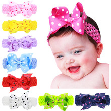 Newly Design Lovely Sweet Children's Elastic Force Hair Band Princess Baby Girl Round Dot Bowknot Leopard Hairband 18 color