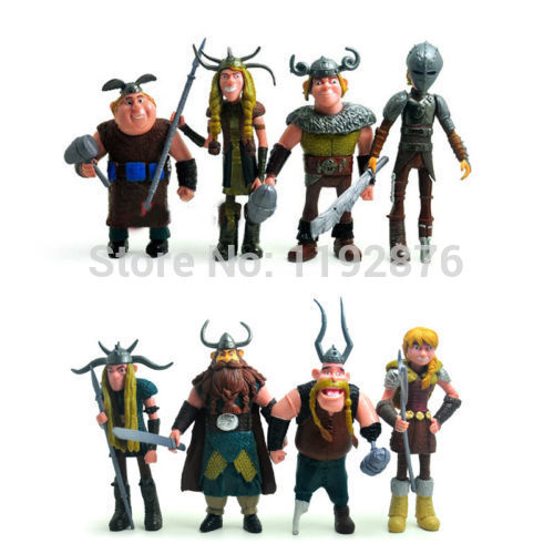 8pcs How To Train Your Dragon Hiccup Astrid Stoick Fishlegs 12cm/4.8 PVC Figure<br><br>Aliexpress