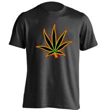 Amsterdam graphic logo leaf Mens & Womens Cool T Shirt Custom T Shirt(China)
