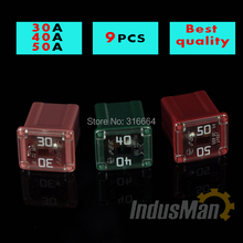 3model 9pcs 30A to 50A  small  type LPJ  Auto fuse,Japan and USA car fuses for Honda Toyota Audi BMW VW etc.