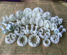30PCS/SET Many Kinds,Flowers,Leaves Shape Food Grade Plastic Cake Tools,Cookie Cutter,Fondant Cake Decorating