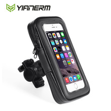 Yianerm MTB Bike Phone Holder Waterproof Case Bag Bicycle Motorcycle Mount Dust Resistant for iPhone 5s 6s 7 plus(China)