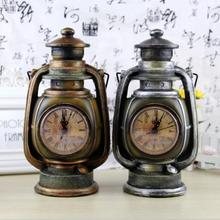 Retro Craft Ornaments Old Clock Coin Piggy Bank Money Saving Box Vintage Home Decoration For Living Room Creative Gifts E150