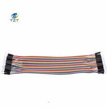 New 40PCS in Row Jumper Wire Dupont Cable line 2P-2P 2.54mm Male to Male 20cm For Arduino Breadboard Dropshipping TK0838