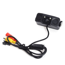 Newest 3 IN 1 Video Parking Sensor Car Reverse Backup Rear View Camera with 2 Radar for Universal Cars High Quality