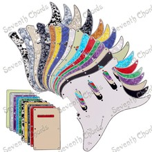Multicolor 3 Ply SSS 11 Holes Guitar Pickguard and Guitar Backplate  Back Plate Tremolo  Cover For ST FD Guitar (YZKK)