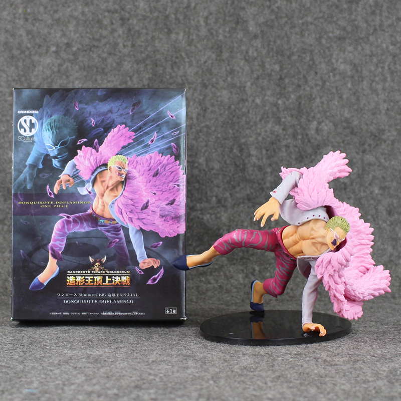 6 15cm Japan Anime One Piece Doflamingo Figure PVC Action Figures Collection Model Toys Gifts for Kids kunai pet<br>