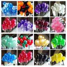 100pcs/lot 10 inch 1.2g/pc Cheap Latex Balloon Balao Party Globos white Wedding baloons Birthday Balloons Balls child toys gifts
