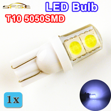 Auto LED Bulb T10 5050SMD Silicone Shell 4 Chips Cold White Color W5W 12V Car Side Clearance Plate Lamp