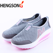 Summer Shoes Women Casual Shoes Breathable Air Mesh Swing Wedges Dail Wear Shoes Female 22-25.5cm PA868158(China)