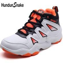 Hundunsnake Wanita Kulit Putih Sepatu Basket untuk Anak-anak Anak Laki-laki  Pria Wanita Olahraga Sepatu Tinggi Atas Sepatu Wanit. 168a9a3197