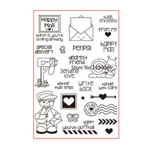 Happy Mail Sending Love Special delivery Scrapbook DIY photo cards rubber stamp clear stamp transparent stamp 10x15cm AP783101(China)