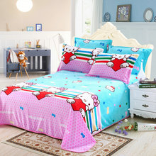 Home Textiles High Density Super Soft hello kitty Flannel Blanket Bed Sheet Sofa Plane Travel Blanket Bed Blanket bedding