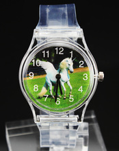 Horse Unicorn / Frog Prince / Football Watches Rabbit Kangaroo Turtle Elephant Eagle Lizard Butterfly Swan Children Kids Watch(China)