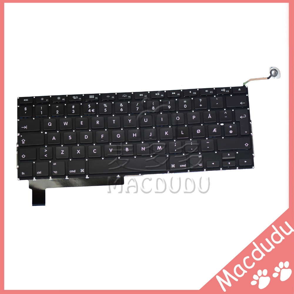 New for 15.4 Macbook Pro Unibody A1286 Norwegian Keyboard MB985 MB986 MC721<br>