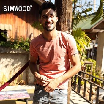 SIMWOOD Marque Nouveau Hommes Clothing t-shirt D'été À manches Courtes O-cou lettre Casual Slim T shirt Des Hommes Tops Tee Livraison Gratuite TD1036