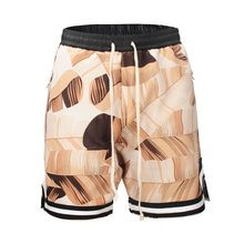 2018 High Street Moda flor Camuflagem Shorts Homens Hip hop Soltas Baggy  Shorts Masculino Elástico Na Cintura Do Vintage Shorts 01ada4e0cd132