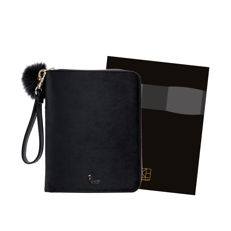 2018 New Black Swan Theme A6 Zipper Bag Hobonichi Fashion Journal 128 Sheets Creative Stationery Gift Free Shipping<br>
