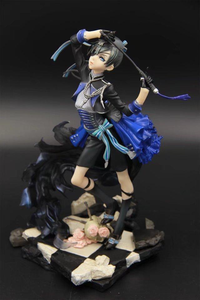 22cm Black Butler Kuroshitsuji Cie Anime Action Figure PVC New Collection figures toys Collection for Christmas gift<br>