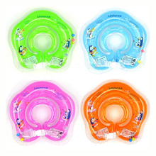 2017 Inflatable Circle New Born Infant Adjustable Swimming Neck Baby Swim Ring Float Ring Safety Double Protection