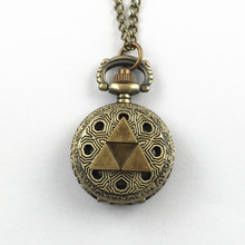FANTASY UNIVERSE Freeshipping 1pcs a lot The Legend of Zelda Triforce pocket watch necklaces Dia27cm HYT26