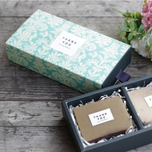 8.5x16.5x3.5CM elegant blue flower pattern 10 set Chocolate Paper Box valentine's day Christmas Birthday Party Gifts Packing use
