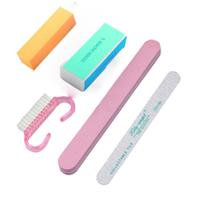 Lily angel 5pcs/set Fashion Professional Manicure Tools Kit Rectangular Nail Files Polishing Strip Nail Art Set Nail Supplies