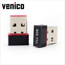 VENICO Mini Portable USB 2.0 WiFi Adapter 802.11n g b Wireless Network LAN Card for PC Laptop Windows Mac OS Linux WiFi antenna