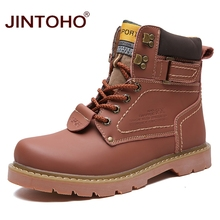 JINTOHO Winter Men Boots High Quality Male Genuine Leather Boots Work & Safety Boots Fashion Winter Genuine Leather Work Shoes(China)
