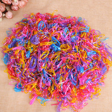 300pcs/pack Trendy Transparent Rubber Band Women Girls Elastic Hair Band Ties Plaits Rope Fashion Hair Accessories Free Shipping