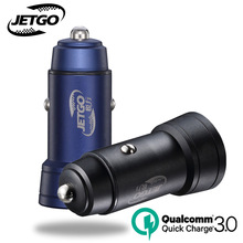 JETGO Car Charger Car-charger Quick Charge 3.0 36W Dual USB Port Car Charger Fast USB Adapter Mobile phone car chargers QC3.0