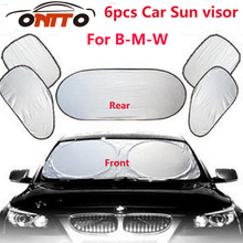 6pcs/set Car sun visor sunscreen insulation curtain sun block lights Front/Rear shade anti UV windshield windows for E60 E90 F15