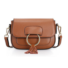 Brand Designer Women Messenger Bags 2017 Summer Fashion Genuine Cow Leather Handbag for Girls Small Shoulder Bag Brown Best Gift