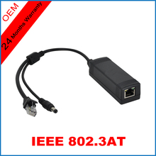 PoE Splitter IEEE802.3at PoE standard 10/100M 25.5W Single Port PoE Connector Power over Ethernet for Mini IP PTZ Camera