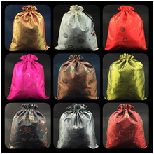 Embroidery Sequin Drawstring Storage Bag for Shoe Protective Cover Satin Cloth Lavender Pack Trinket Crafts Gift Packaging Pouch(China)