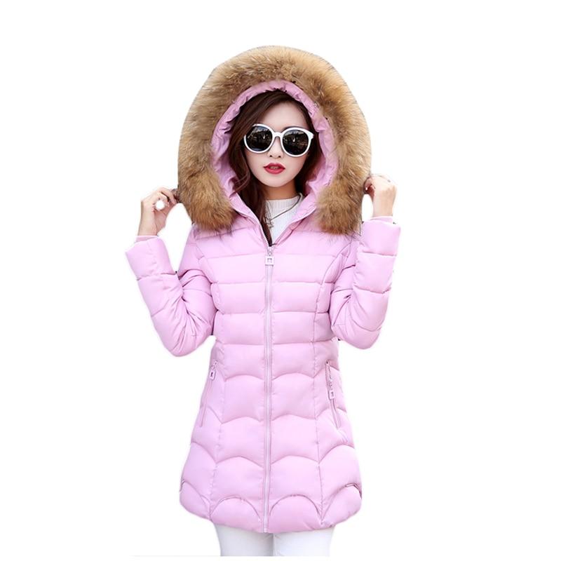 New Hot Sale Plus Size 4XL Winter Jacket Womens 2017 Fur Collar Thick Warm Cotton Parka For Women Winter Jacket Coat FemaleÎäåæäà è àêñåññóàðû<br><br>