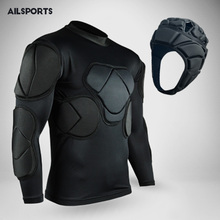 2017 Sports safety protection thicken gear soccer goalkeeper jersey American Football Jackets knee pads elbow padded protector
