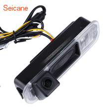 Seicane HD Wired Car Backup Reversing Camera For 2012-2013 NEW Ford Focus Two Boxes Backup Camera Waterproof Four-Color Ruler(China)