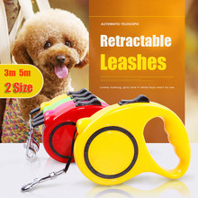 3m 5m Two Size Pet Retractable Dog Leash Dog Collar Pet Harness Supplies Chihuahua Extending Puppy Walking Leads Nylon Pet Leash(China)