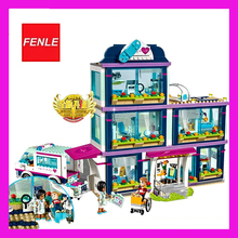 Lepin 01039 Friends Girl Series 932pcs Building Blocks toys Heartlake Hospital kids Bricks toy girl gifts Compatible 41318(China)