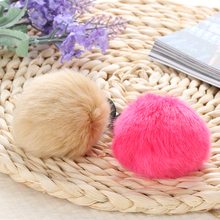 2 Pcs Women Lady Lovely Warm Artificial Fake Rabbit Fur Ball Headwear Elastic Hair Rope Ponytail Holders Hair Band Accessories(China)
