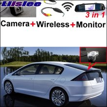 Liislee 3 in1 Special Camera + Wireless Receiver + Mirror Monitor Easy DIY Back Up Parking System For Honda Insight 5D 2010~2015(China)
