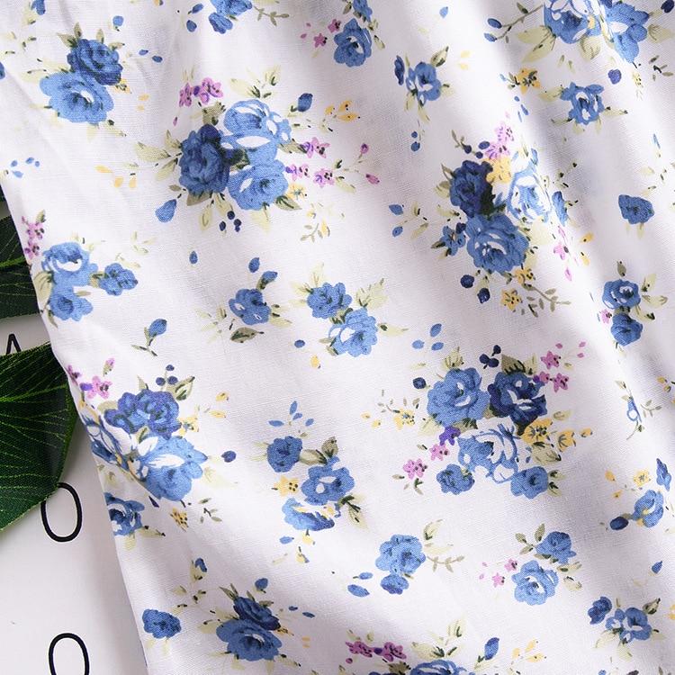 Mother nest 2018 Summer New Girls Flower Puff Sleeves Dress Cotton Children Kids Clothes Toddler Baby Birthday Kids Dresses (3)