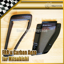 For Mitsubishi Evolution Evo 5 6 OEM 100% Carbon Fiber Hood Scoop Vent