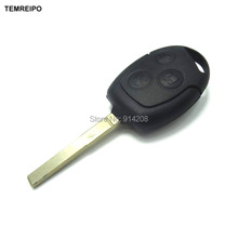 TEMREIPO 3 Button Car Key Shell For Car Ford Remote Control car key Backseat shell for ford(China)