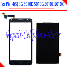 New Touch Screen Digitizer + LCD Display For Alcatel Pixi 4 (5) 3G 5010D 5010E 5010G 5010S 5010X Free Shipping + Tracking(China)