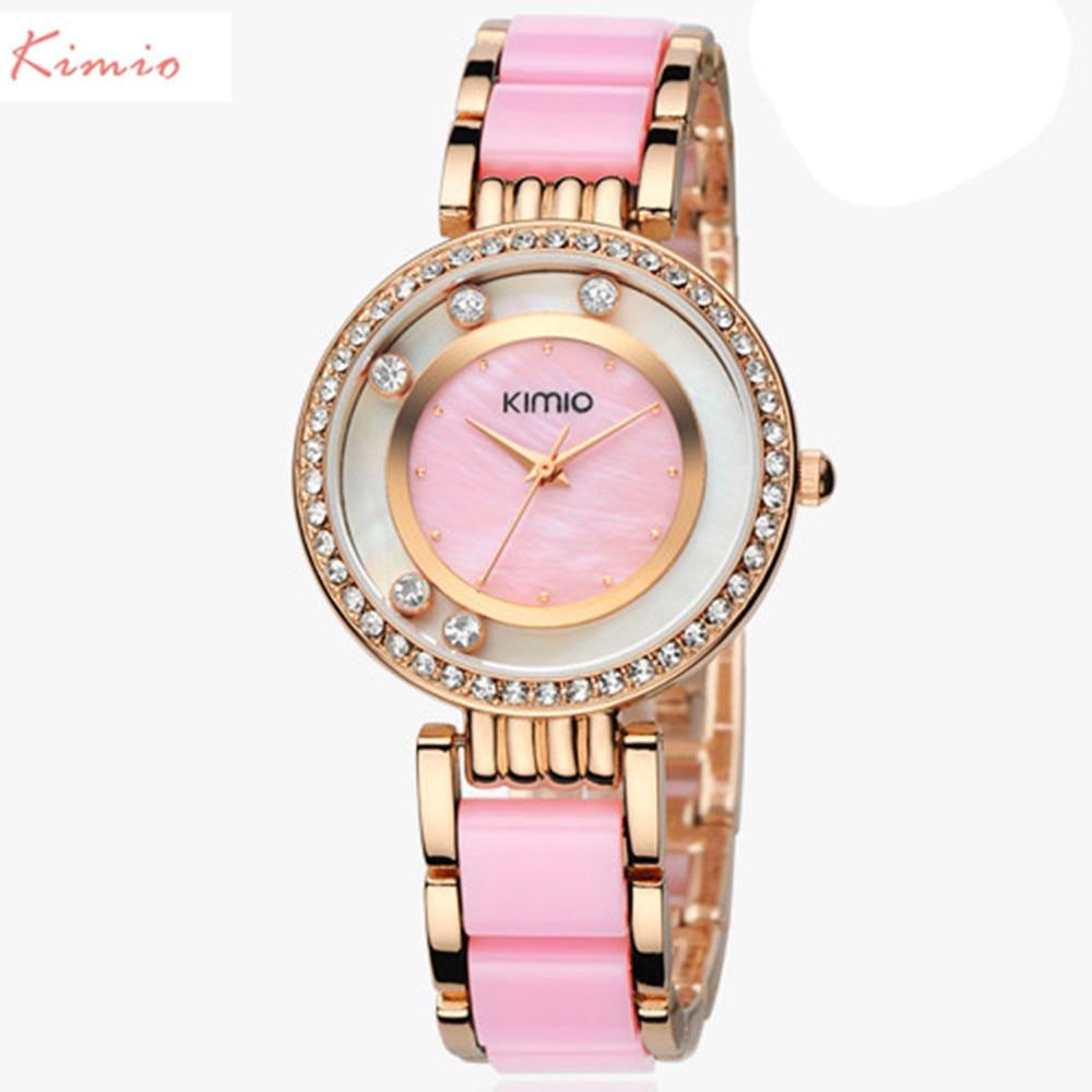 KIMIO Brand Scale Crystal Diamond Rolling Bracelet Womens Watches Brand Luxury Fashion Ladies Watch Women Quartz-watch Clock<br>