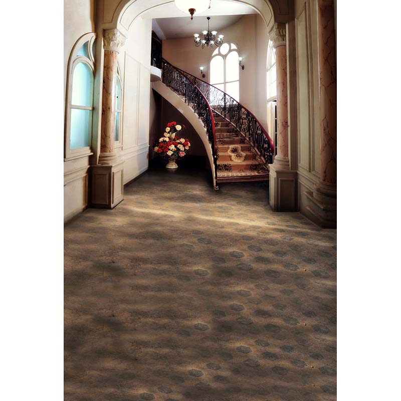 Interior stairs photo background patter floral carpet photo backdrops for family photo studio camera fotografia props CM-3813<br>