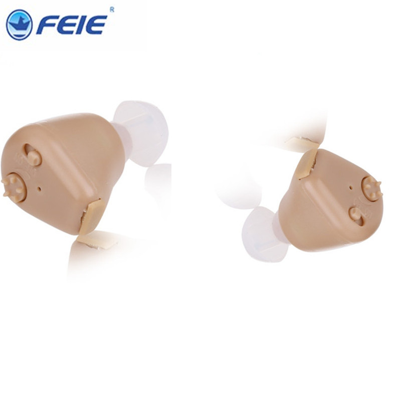 Free shipping 2 pcs lot Ear Sound Amplifier Analog Audiphone ITC Hearing Aids Rechargeable S-216<br>
